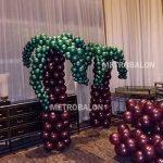 Balon dekorasi ponon palem prmium