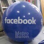 Balon Bulat Facebook Diameter 1.4m