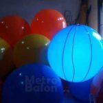 Balon Bulat dengan Lampu Led