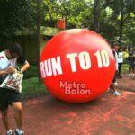 balon Bulat Run 10 Diameter 2m
