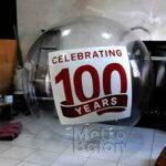 Balon Bulat Transparan 100 years